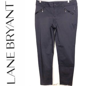 Lane Bryant Gray Zip Pocket Skinny Ankle Pants 14